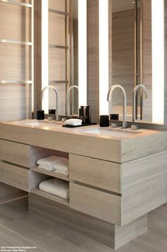 divine styling for the contemporary bathroom (gorgeous taps)! Armani Hotel Milano_Les plus beaux HOTELS DESIGN du monde