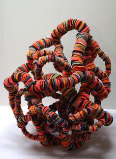 "Saatchi Online Artist: Andrea Myers; Textile, 2012, Sculpture ""In Tangles"" Columbus"