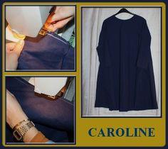 La tunique de Caroline est presque finie.Ne reste que les ourlets à faire.