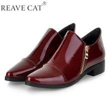 Tamaño grande 33-43 nueva moda de verano Sexy mujeres zapatos de charol zip punta estrecha pisos vino negro rojo Sexy(China (Mainland))