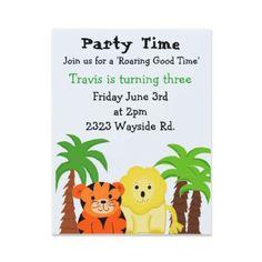 Jungle Animals Party Invitation by seashell2