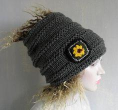 Crochet Men Women Hair Sock Dreads Beanie Sunflower Patch Lock