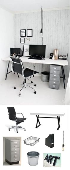 Sleek metal additions cozy up to black & white design for a streamlined finish.