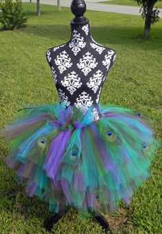 Peacock Tutu Costume. Stupid pin doesn't work but pic helps