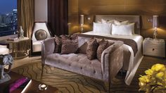The Ritz-Carlton Suite Bedroom – The accommodation of choice for royalty, head of states and celebrities with stunning views of city skyline...