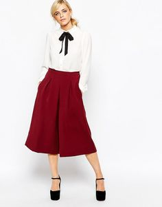 Юбка-шорты (117 фото) в моде 2017: с чем носить, джинсовая, для девочки, для полных женщин