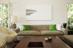 Warm, neutral colors + soothing artwork + pops of color + TEXTURE = lovely!