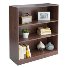 Small Storage Shelves Walnut Effect Bed Room Office Bookcase Display Living Unit in Home, Furniture & DIY, Furniture, Bookcases, Shelving & Storage | eBay