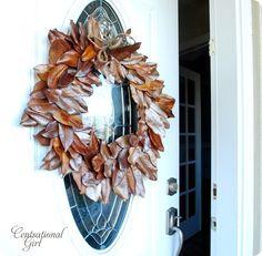 front door magnolia wreath