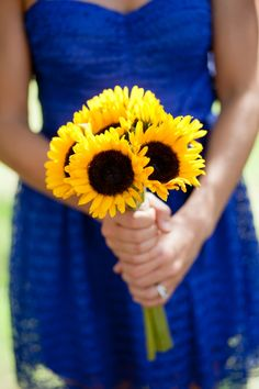 Rustic Blue and Yellow Wedding Ideas | Heart Love Weddings