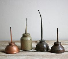 Vintage oil cans - industrial beauty!
