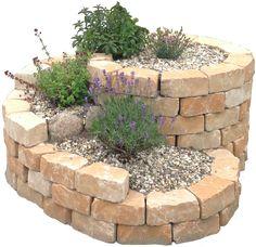 Kräuterspirale Bausatz Stein - Kräuterschnecke selbst bauen