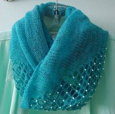 Free Knitting Pattern for Jeweled Cowl