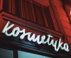 These beautiful neon signs are just part of the work of yesteryear on display at the Neon Muzeum in Warsaw. These days, commercial signage seems dominated by color-changing LEDs or screens that spr… Neon Museum, Exterior Signage, Wayfinding Signage, Vintage Typography, Environmental Graphics, Warsaw, Cold War, Poland, Neon Signs