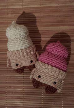ice cream Smila made by Katrin J. / crochet pattern by lalylala
