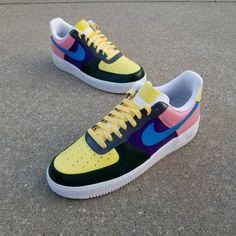 Nike Air Force 1 Wotherspoon Custom Sneakers | Etsy Fresh Shoes, Hot Shoes, Vans Shoes, Custom Sneakers, Custom Shoes, Custom Af1, Vans Slip On, Slip On Shoes, Nike Sb