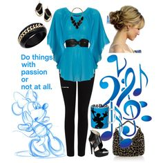 Black & Blue, created by kjsteiner on Polyvore
