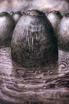 "The Original ""Alien"" Concept Art Is Terrifying H. Giger's original drawings for Alien are even more chilling than the final film. Arte Alien, Arte Sci Fi, Alien Art, Hr Giger Alien, Hr Giger Art, Xenomorph, Land Art, Concept Art Alien, Art Science Fiction"