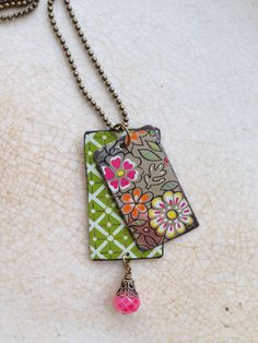 Tin Jewelry Necklace Raspberry Dream Tin for the