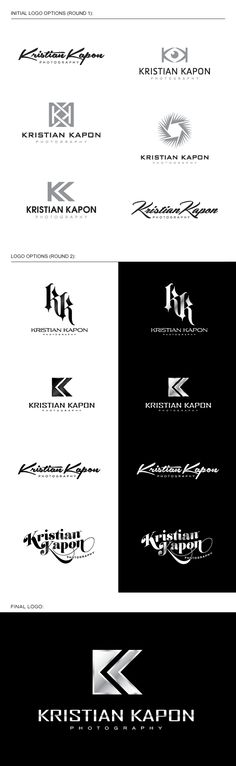 photography logo design for KK, Dallas Fort Worth, Texas photographer