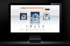 Website for L'oreal menexpert as official sponsor of Hokey World Championship held in Bratislava.