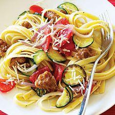 Italian Sausage and Zucchini Pasta   MyRecipes.com