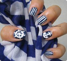 Catrice Nautica and Nautica Inspired Nail Art Gorgeous Nails, Pretty Nails, Fun Nails, Cruise Nails, Best Nail Polish, Dark Nails, Beauty Hacks, Beauty Tips, Stuff To Do