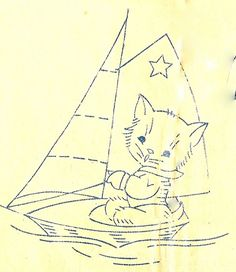 Sailing Kitty by Just-a-mere, via Flickr
