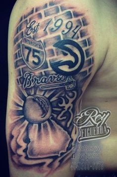 64 Best Atlanta Tattoo images in 2015 | Atlanta tattoo, Dagger ...