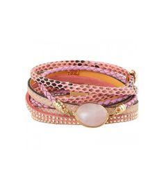 Roze armband met steentjes