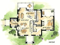 Looking for the best house plans? Check out the Chateau de Valensole plan from Southern Living. Cottage Floor Plans, Cabin Floor Plans, Cottage House Plans, Sims 4 House Plans, Best House Plans, Small House Plans, Southern Living House Plans, French Country House Plans, French Cottage