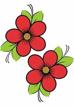 Art Drawings For Kids, Colorful Drawings, Easy Drawings, Flower Pattern Drawing, Butterfly Drawing, Rock Flowers, Paper Flowers, Flower Crafts, Flower Art