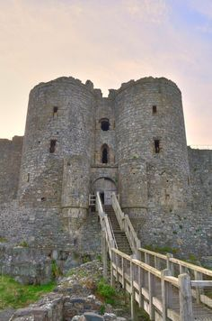 Caerphilly Castle In South Wales Is One Of The Largest Castles In The United Kingdom. It Was Built By Gilbert De Clare Between The Years 1268 And 1271.