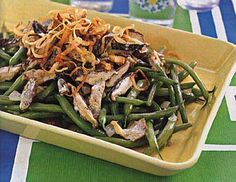 A delicious side I've made a number of times over years that always gets good reviews :) Green Beans with Mushroom-Madeira Sauce.