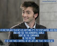 Life lesson from The Doctor