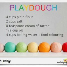 Make my own play dough... and we're doing flower part id and I want them to make flowers out of play dough!