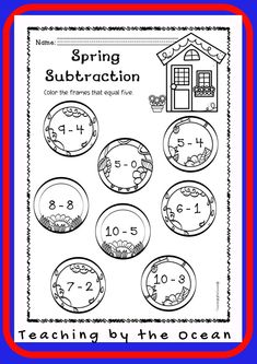 Spring Math NO PREP (kindergarten) - Distance Learning Kindergarten Readiness, Kindergarten Classroom, Homework Folders, Types Of Education, Thing 1, Early Finishers, Elementary Science, Morning Work, Black And White Design
