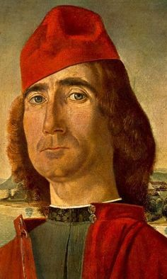 Portrait of an Unknown Man with Red Beret 1490-93 Vittore Carpacchio