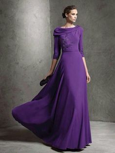 Modest Purple Gown