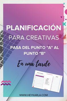 PLANIFICACIÓN PARA EMPRENDEDORAS CREATIVAS #PLANDEACCION #PLANIFICACION