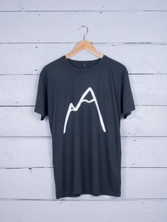 49f7b9cba Simple Mountain graphic tee - hand screen-printed on ethically made organic  cotton t-shirt - designed for The Level Collective by Alice Bowsher.