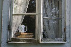 """Jumbomugg, Blingosaurus, old window. """"I feel pretty, oh so pretty"""".  Illustratör: Ida Söderlund Foto: Emma Svalander"""