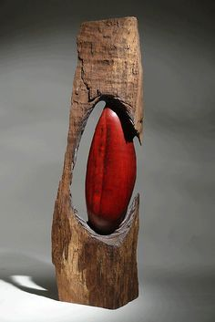 "Christophe Nancey ~ ""Out of the Wood"" ~ Oak - Wood Sculpture"