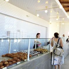 Holmes Bakehouse Highland Park Los Angeles Cruffins Photo Ops I Got Baked in Los Angeles Location Interior Design Highland Park Los Angeles, Mr Holmes Bakehouse, Bakery, Restaurant, Interior Design, Ideas, Nest Design, Home Interior Design, Diner Restaurant