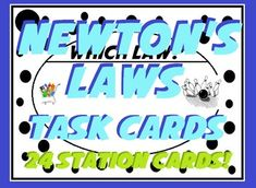 In this review of Newtons Laws, students are asked to write in the laws, read scenarios and then determine which law the scenario is describing. A great way to tell if students really understand the laws!24 task cards to place around the room or sort with a recording sheet.