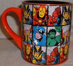 Marvel Comics Super Heroes Coffee mugs, yes, i will have this!