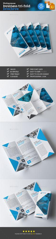 Corporate Trifold Brochure Pinterest Brochures Brochure