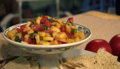 Peach And Ginger Salsa
