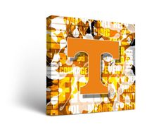 Tennessee Vols Volunteers Canvas Wall Art Fight Song Design (12x12)