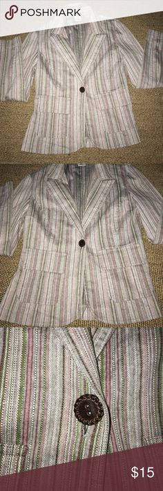 Rue 21 striped blazer jacket In excellent condition. Size small. Rue 21 Jackets & Coats Blazers